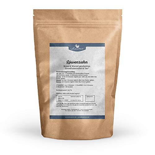 Löwenzahn Kraut & Wurzel geschnitten in hochwertiger Qualität, frei von jeglichen Zusätzen, als Tee oder für Pferde, Hunde und Katzen (Taraxacum officinale) – 500 g