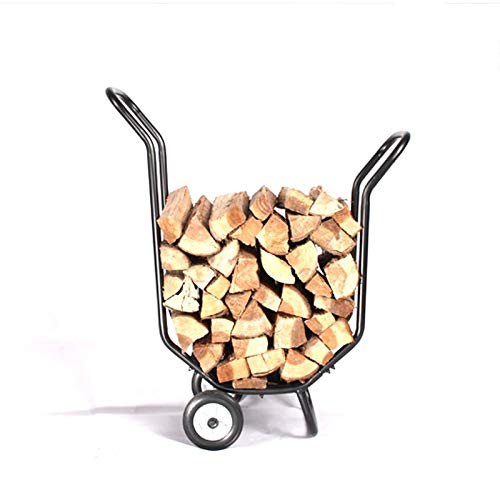 Find Bargain Xilinshop Movable Firewood Trailer Pile Wood Frame Fireplace Firewood Frame Fireplace A...