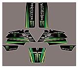 bazutiwns Protector de gráficos de Motocicletas Fondos de calcomanías Etiquetas engomadas Kits para Yamaha Banshee 350 Todos los años HSLL (Color : 2)