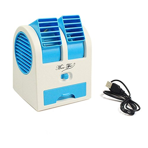 Koniry Mini USB Small Cooling Fan Portable Dual Workstation Bladeless Air Conditioner