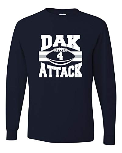 Go All Out Large J. Navy Adult Dak Attack Long Sleeve T-Shirt