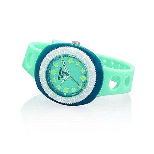 Watchmaker Milano Sub - Reloj de pulsera para hombre Submariner Vintage de cuarzo años 70 Celeste E azul