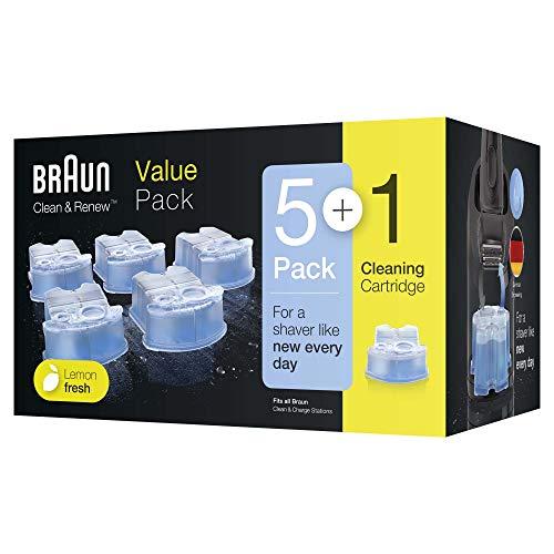 Braun Clean & Renew Ersatzkartuschen für elektrische Rasierer, 5+1er-Pack