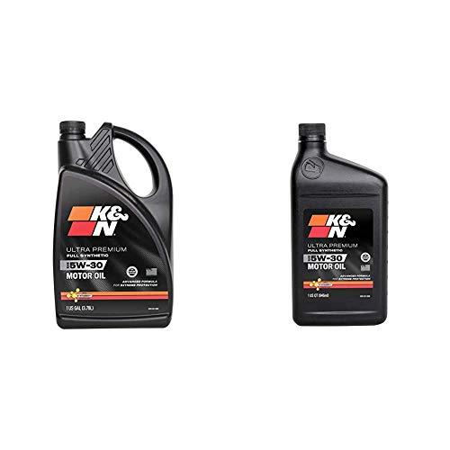 K&N Motor Oil Bundle: 5W-30 Full Synthetic Engine Oil: Ultra Premium Protection, 5 Quart