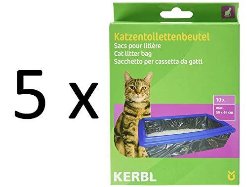 Kerbl 84215 Beutel für Katzentoiletten XL 59 x 46 cm, 5 x 10er-Pack