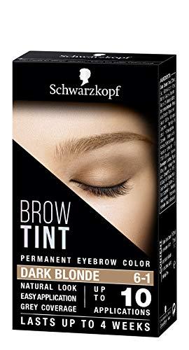 Schwarzkopf Brow Tint, Professional formula Eyebrow Dye, Brow Tinting Kit with Gentle Permanent Colour, Dark Blonde