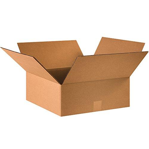 BOX USA B16166 Flat Corrugated Boxes, 16'L x 16'W x 6'H, Kraft (Pack of 25)