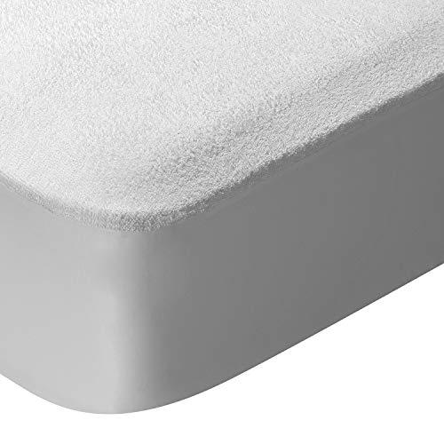 Pikolin Home Pack 2 Protectores de colchón de Rizo Impermeable, Transpirable y Muy Absorbente con faldón Ajustable