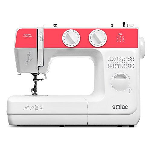 Solac SW8240 Cotton 24.0 Máquina de Coser Mecánica con 24 Puntadas, Blanco