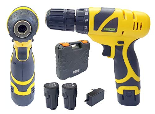 cheston keyless chuck 12V cordless drill with screwdriver with 2 batteries