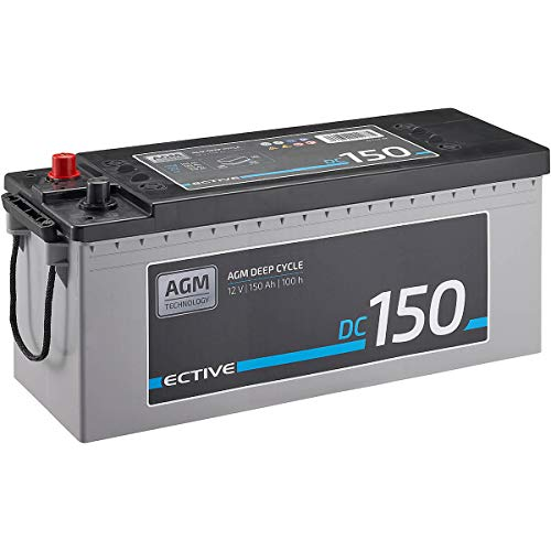 ECTIVE 150Ah 12V AGM-Batterie DC 150 VRLA Versorgungsbatterie in 7 Varianten: 70Ah - 230 Ah (wartungsfrei)