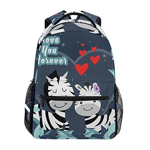 Mochila Bookbag Lovely Story Pareja Animal Mochila Mochila Impermeable para Viajes Medios Niñas Niños Adolescentes