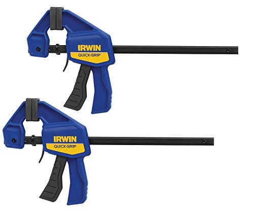 IRWIN QUICK-GRIP Bar Clamp, One-Handed Mini, 6-Inch, 2-Pack (1964743)
