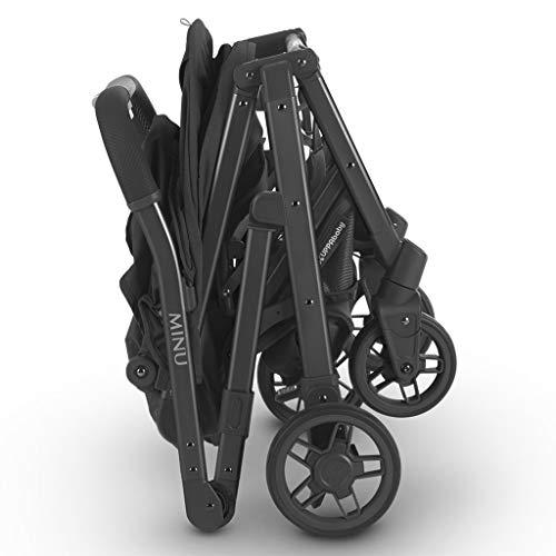 2018 UPPAbaby MINU Stroller - Jake (Black Melange/Carbon/Black Leather)