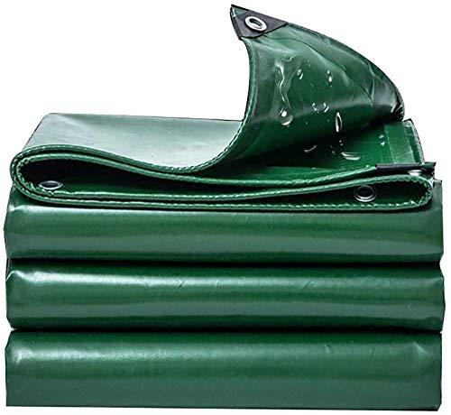 Tarps Heavy Duty Waterproof Tarpaulin schwer entflammbares Tuch Regen- Dämm- Feuchtigkeitsschutz- Dämmplane Fabrik- Gebäude- Auto- Outdoor-Campingplane Grün- 530 g m2 (Größe: 4x6 m)