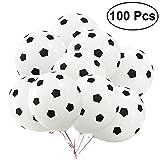 TOYMYTOY 100 Stück 12 Zoll Party Luftballons,Fußball Latex Luftballons Geburtstag Ballons Kit für Dekoration