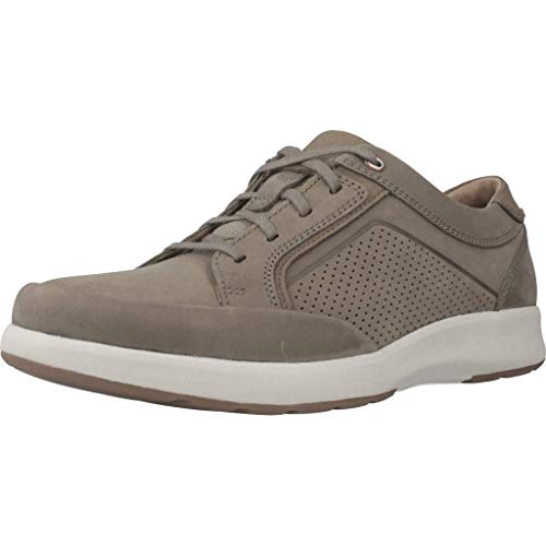 Clarks Un Trail Form, Zapatos de Cordones Derby, Gris (Taupe Nubuck-), 46 EU