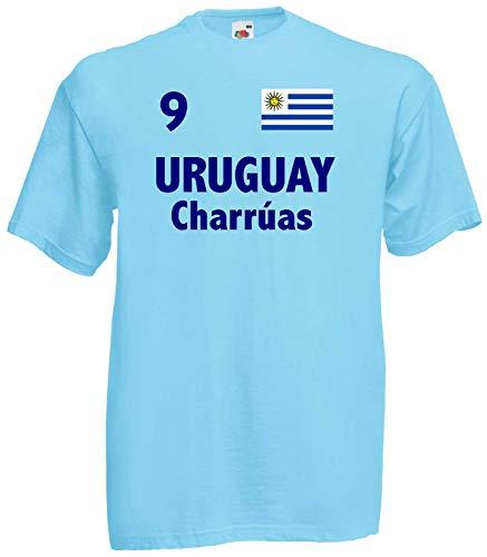 world-of-shirt Herren T-Shirt Uruguay Carruas Trikot 1-