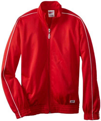 Soffe Big Boys' Warm Up Jacket, Red, X-Small