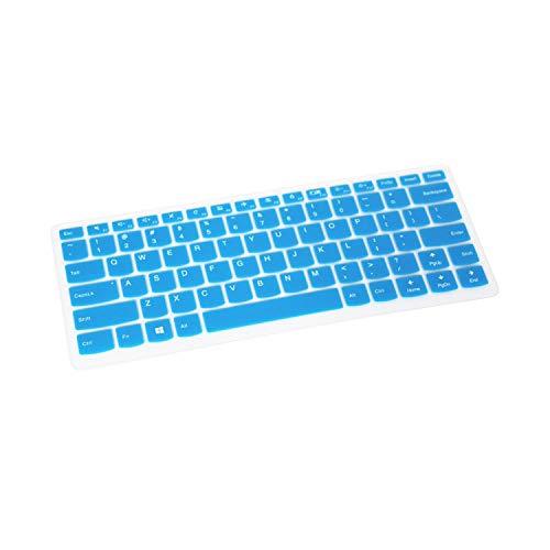 TOIT - Funda protectora para teclado de ordenador portátil de 14 pulgadas para Lenovo Yoga 510 (14') 510-14Ikb 510-14Isk 510-14Ast 510 14Ikb 14Isk 14Ast 710 14Isk azul azul