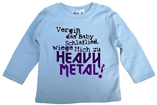 Dirty Fingers Dirty Fingers, Vergiß das Babyschlaflied, Heavy Metal!, T-Shirt langärmlig, 6-12 m, Hellblau