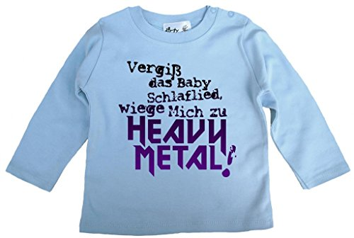 Dirty Fingers Dirty Fingers, Vergiß das Babyschlaflied, Heavy Metal!, T-Shirt langärmlig, 6-12 m, Hellblau