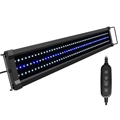NICREW ClassicLED G2 Lampada Acquario, Plafoniera LED per Acquario, Luce Acquario Impermeabile con 2 Canali di Controllo, Luci Bianche e Blu, 75-95 cm, 25W 1910Lumen