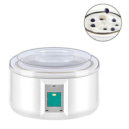 Ksruee 1.5L Máquina para Hacer Yogurt de Acero Inoxidable de Máquina de Yogurt de Vino de arroz Máquina de fermentación natto de Vino Totalmente automática (Sin envases de Yogur)