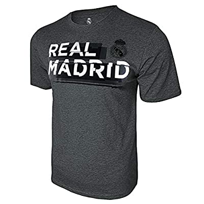 Icon Sports Real Madrid Shattered Graphic T-Shirt (X-Large, Deep Heather)