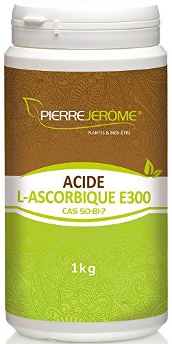 Pierre Jérôme Acide L-Ascorbique E300 pure en Poudre Vitamine C 100% Acide l'Ascorbique 1 kg