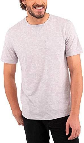 Boston Traders Men's T-Shirt Tee Crew Neck Chest Pocket, Variety (Sleet, Medium)