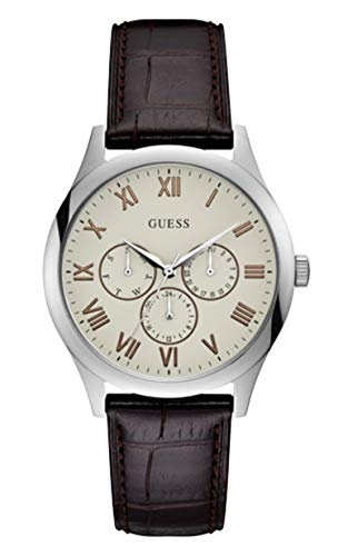Guess Herren Analog Quarz Uhr mit Leder Armband W1130G2