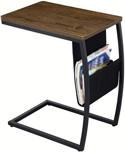 HSRG C Mesa de mesa auxiliar, mesa de aperitivos portátil para café, tableta, diseño moderno, fácil montaje, mesas de café, para salón y habitaciones pequeñas