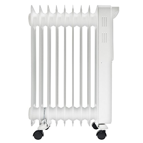 Igenix IG2610 Portable Digital Oil Filled Radiator, Electric Heater with 3 Heat Settings, Adjustable Thermostat, Overheat Protection with 24 Hour Timer, 2000 W, White