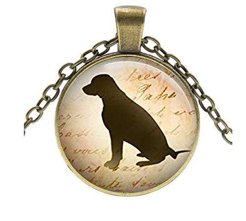 Heng yuan tian cheng Collar de razas de perro, colgante para amantes de perros, regalo para amantes...