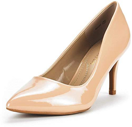 Dream Pairs KUCCI Zapatos Tacón Vestir Mujer Desnudo