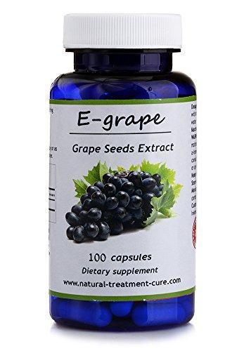 Hekma Center Pure Extract of Grape Seed - Vitis Vinifera - 100 Capsules - Vegan