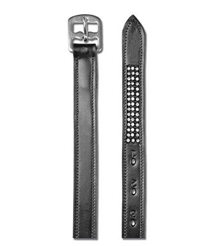 Waldhausen Steigbügelriemen Star mit Strasssteinen, schwarz, 120, schwarz, 120 cm