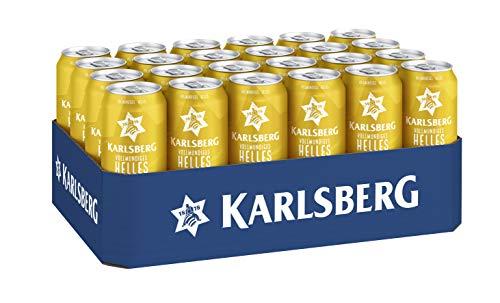 Karlsberg Helles - lecker vollmundig (24 x 0,5l Dose) - EINWEG - inkl. 6 Euro DPG Pfand
