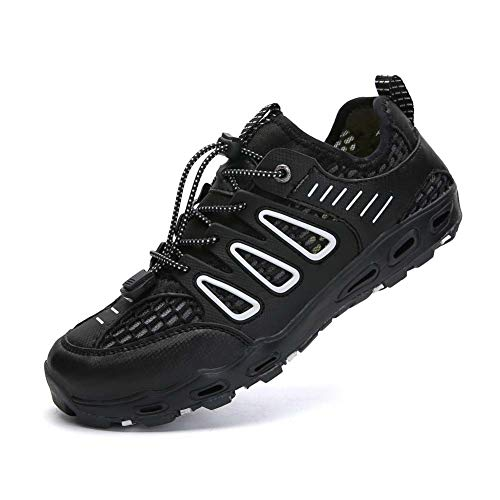 WXBXIEJIA Trail Running Shoes Outdoor Sports Barefoot Shoes Thick Bottom Swimming Shoes Soft Bottom Yoga Fitness Home Treadmill Shoes Diving Sports shoesBlack-43