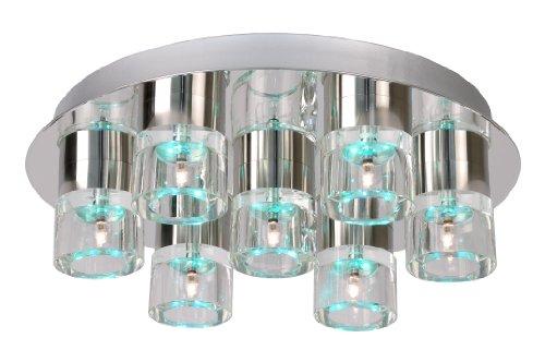 Lucide 32151/27/11 Tabu-LED Plafonnier Verre + Métal