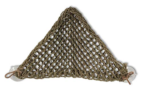 Penn Plax Lizard Lounger, 100% Natural Seagrass Fibers For Anoles, Bearded Dragons, Geckos, Iguanas, and Hermit Crabs Triangular 10 x 12 Inches