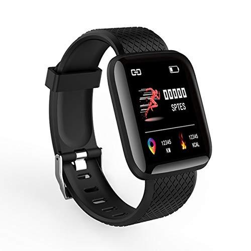 Gobutevphver Smart Watch 116 Plus Smart Watch 116Plus Pulsera Deportiva Multifuncional Pulsera Inteligente Ip67 Fit bit Relojes de Pulsera Digitales Inteligentes - Negro