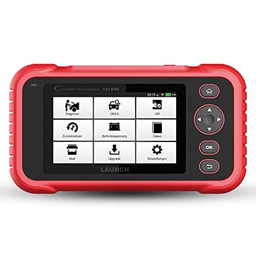 LAUNCH Europe CRP 123 EVO OBD2 Diagnosegerät Auto Auslesegerät Kfz-Diagnose Tester Öl-Service Motor ABS SRS Automatik Getriebe Code-Scanner WiFi Update Touchscreen Android Rot
