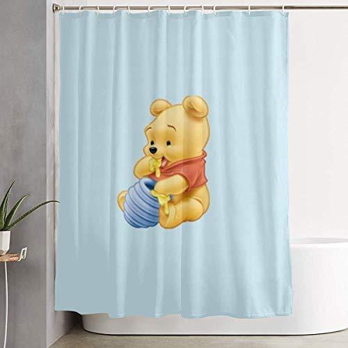 DHGER Duschvorhang Cute Winnie The Pooh Love Honey Shower Curtain Decor for Men Women Boys Girls 60x72 in