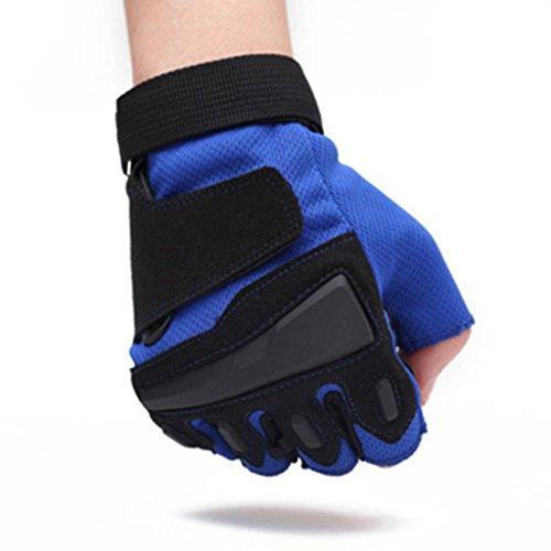 HW@ST- Outdoor Sports Halbfinger-Handschuhe Frühjahr und Sommer Outdoor-Handschuhe Fitness Rutschfeste verschleißfeste Reithandschuhe (Farbe : A)