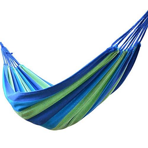 Signstek Outdoor Hängematte Mehrpersonen 190 x 150 cm, Belastbarkeit bis 150 kg Reisen Camping (Blau)