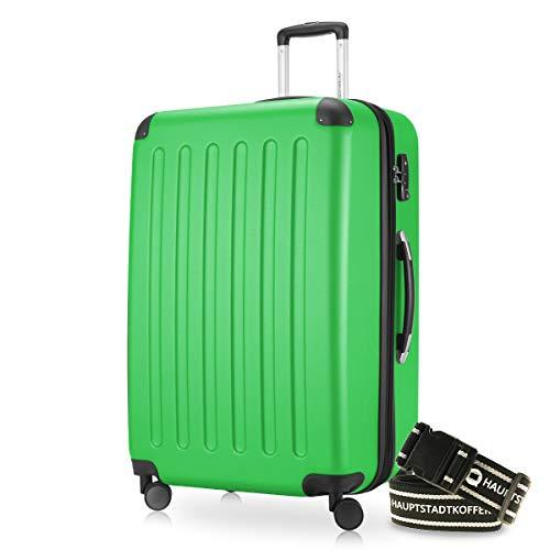 Hauptstadtkoffer - Spree Hartschalen-Koffer-XL Koffer Trolley Rollkoffer Reisekoffer Erweiterbar, 4 Rollen, TSA, 75 cm, 119 Liter, Apfelgrün inkl. Gepäckgurt