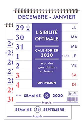 90 x 160 mm Brepols Agenda Settimanale NOTAPLAN 2020