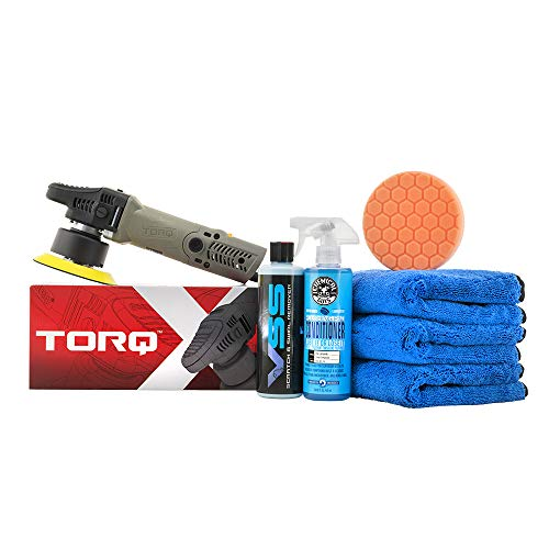 Chemical Guys BUF612 TORQX Random Orbital Polisher ONEStep Scratch and Swirl Remover KIT 7 Items